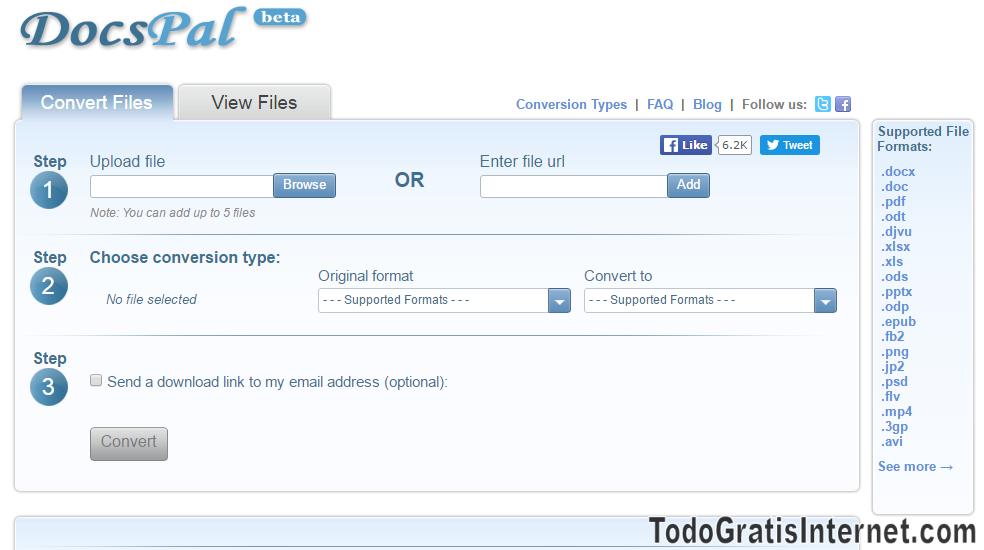 Conversor de archivos online gratis pdf, doc, xls, epub