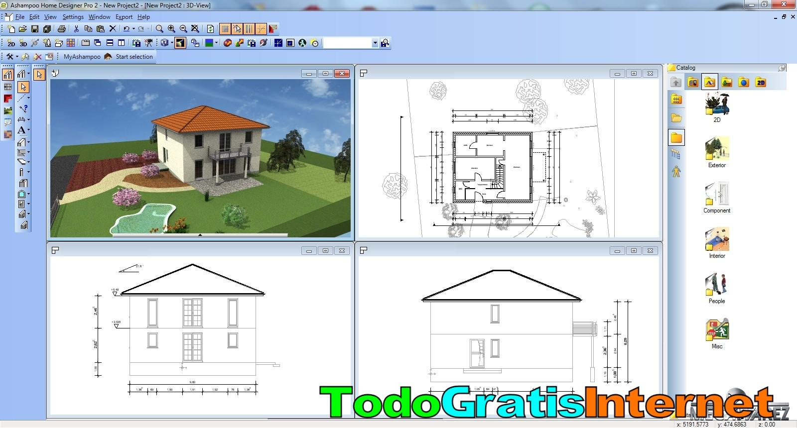 Dise a gratis el interior y exterior de tu casa con home designer pro 2 - Home designer pro ...
