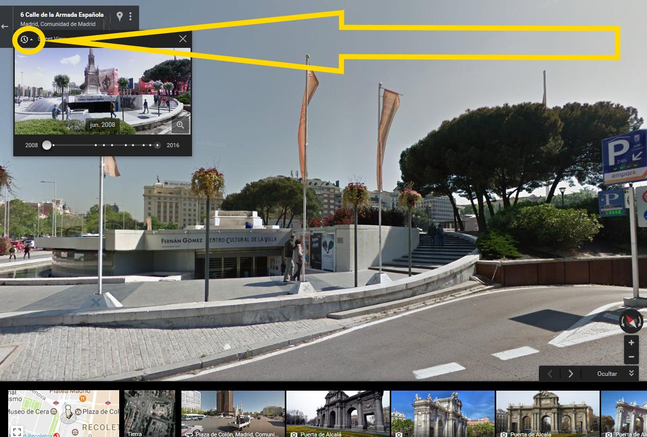 viaja en el tiempo con google maps