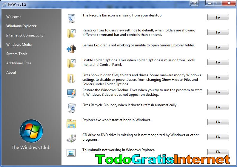 Arregla los problemas típicos de Windows con FixWin | TodoGratisInternet