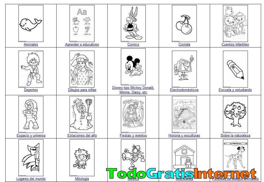 Todogratisinternet Com 26 000 Dibujos Gratis Para Colorear La